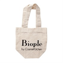 【Biople by CosmeKitchen】エコバッグS 約W180×H190×D100mm
